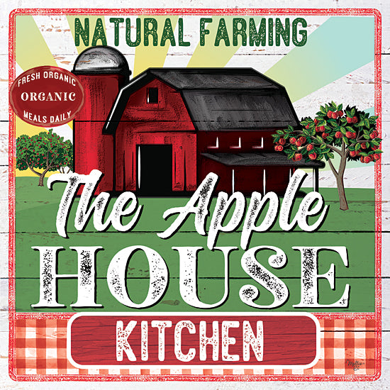 Mollie B. MOL2042 - MOL2042 - The Apple House Kitchen - 12x12 Signs, Typography, Apple House Kitchen, Barn, Silo, Apple Trees from Penny Lane