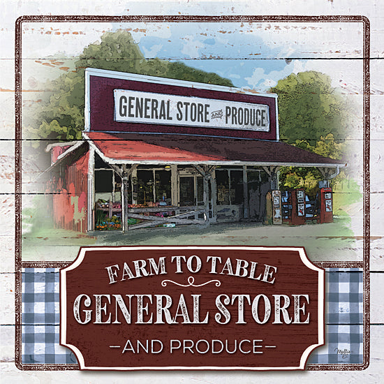 Mollie B. MOL2043 - MOL2043 - Farm to Table General Store - 12x12 Signs, Typography, General Store, Vintage, Produce from Penny Lane