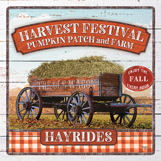Mollie B. MOL2046 - MOL2046 - Harvest Festival - 12x12 Signs, Typography, Harvest Festival, Fall, Hayrides, Wagon from Penny Lane