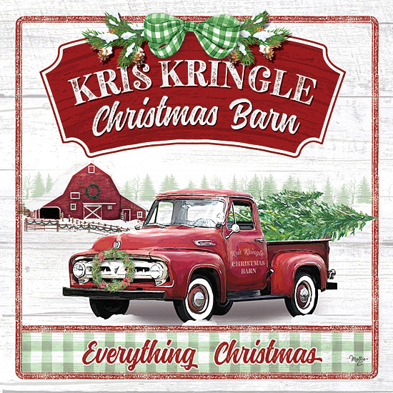 Mollie B. MOL2047 - MOL2047 - Kris Kringle Christmas Barn - 12x12 Signs, Typography, Christmas Tree, Truck, Vintage, Wreath, Barn, Christmas from Penny Lane