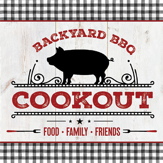 Mollie B. MOL2049 - MOL2049 - Backyard BBQ Cookout - 12x12 Signs, Typography, Backyard BBQ Cookout, Pig from Penny Lane