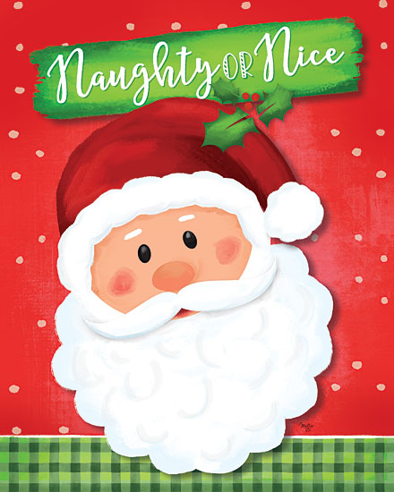 Mollie B. MOL2056 - MOL2056 - Naughty or Nice Santa - 12x16 Signs, Typography, Santa Claus, Christmas Ivy, Naughty Or Nice, Christmas from Penny Lane