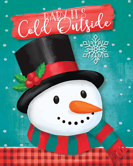 Mollie B. MOL2057 - MOL2057 - Baby It's Cold Outside Snowman - 12x16 Signs, Typography, Snowman, Christmas, Top Hat, Christmas Ivy from Penny Lane