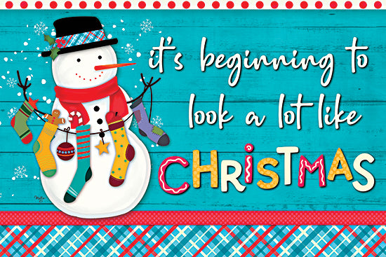 Mollie B. MOL2072 - MOL2072 - It's Beginning to Look a Lot Like Christmas - 18x12 It's Beginning to Look a Lot Like Christmas, Snowman, Winter, Holidays, Christmas, Signs from Penny Lane