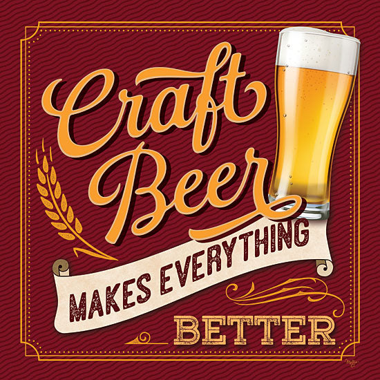Mollie B. MOL2085 - MOL2085 - Craft Beer Makes Everything Better - 12x12 Beer, Craft Beer, Signs, Drinks, Bar from Penny Lane