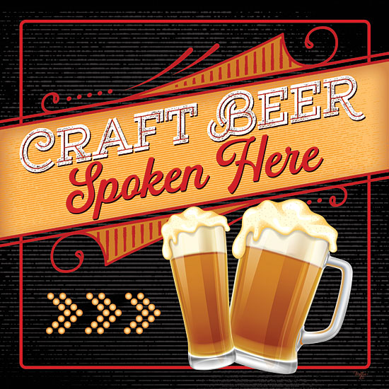 Mollie B. MOL2091 - MOL2091 - Craft Beer Spoken Here - 12x12 Beer, Craft Beer, Signs, Drinks, Bar from Penny Lane