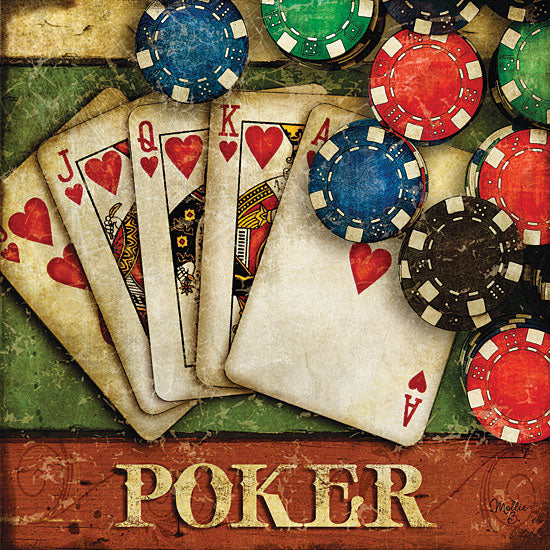 Mollie B. MOL371 - Poker  - Poker, Cards, Chips, Sign from Penny Lane Publishing