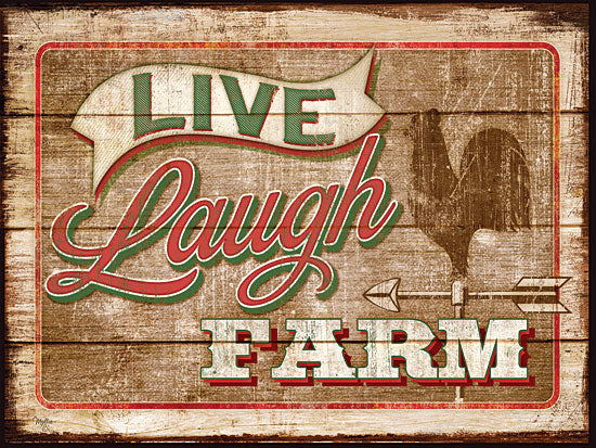 Mollie B. MOL917A- Live, Laugh, Farm - Rooster, Live, Laugh, Farm from Penny Lane Publishing