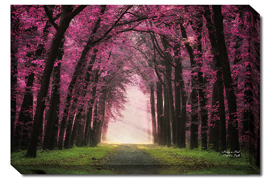 Martin Podt MPP244A - Pretty in Pink - Tree, Path, Purple, Landscape, Nature, Photography, Trees from Penny Lane Publishing