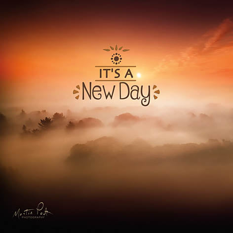 Martin Podt MPP341 - It's a New Day - New Day, Inspiring from Penny Lane Publishing