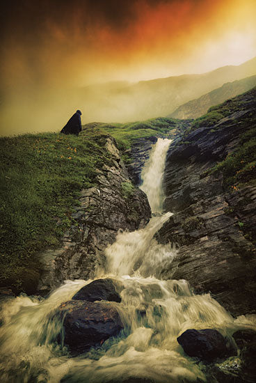 Martin Podt MPP616 - MPP616 - Into the Wild - 12x18 Photography, Waterfall, Hooded Figure from Penny Lane