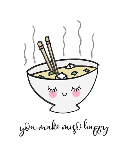 Masey St. Studios MS159 - MS159 - You Make Miso Happy - 12x16 You Make Me Happy, Bowl, Miso Soup, Humorous, Signs from Penny Lane