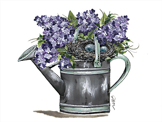 Julie Norkus NOR117 - NOR117 - Water Your Dreams - 16x12 Watering Can, Flowers, Purple Flowers, Garden from Penny Lane