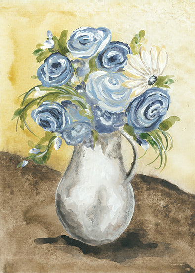 Julie Norkus NOR138 - NOR138 - Sunny Day Flowers - 12x16 Flowers, Blue Flowers, Pitcher, Still Life from Penny Lane
