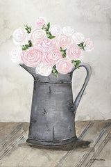 NOR151 - Galvanized Pitcher of Ranunculus - 12x18