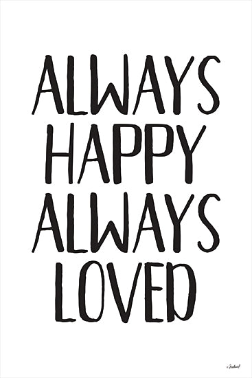 Martina Pavlova PAV355 - PAV355 - Always Happy Always Loved  - 12x16 Always Happy Always Loved, Family, Love, Signs from Penny Lane