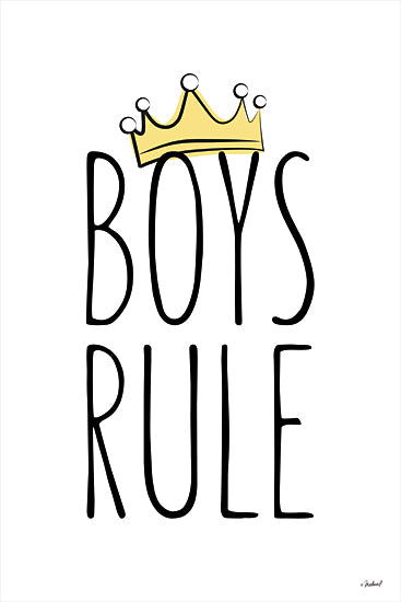 Martina Pavlova PAV356 - PAV356 - Boys Rule     - 12x16 Boy's Rule, Crown, Tween, Signs from Penny Lane