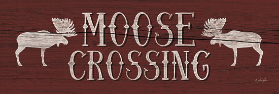 Lauren Rader RAD1090 - Moose Crossing - Moose, Typography, Signs from Penny Lane Publishing