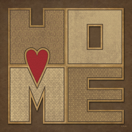 Lauren Rader RAD1122 - Home - Home, Heart, Patterns, Typography from Penny Lane Publishing