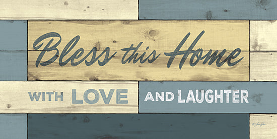 Lauren Rader RAD1125 - Bless This Home - Home, Love, Typography, Inspirational from Penny Lane Publishing