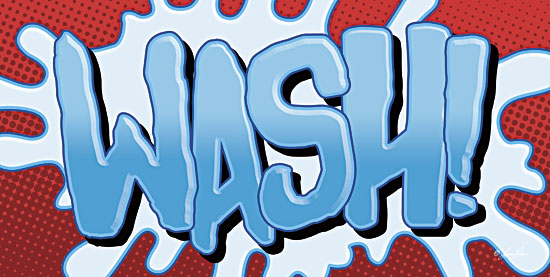 Lauren Rader RAD1143 - Superhero Wash! - Superheroes, Signs, Typography, Bath, Wash from Penny Lane Publishing
