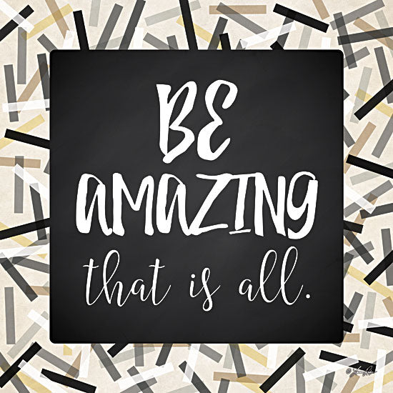 Lauren Rader RAD1155 - Be Amazing - Black, Gray, Gold, Signs, Inspirational, Tween, Typography from Penny Lane Publishing