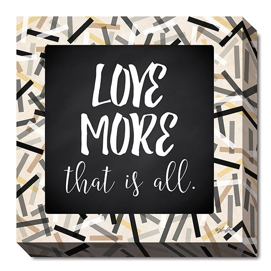 Lauren Rader RAD1157 - Love More - Black, Gray, Gold, Signs, Inspirational, Tween, Typography from Penny Lane Publishing
