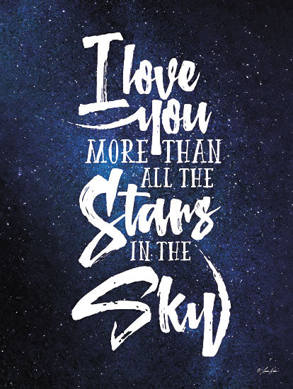 Lauren Rader RAD1186 - More than All the Stars - Quote, Galaxy, Inspirational, Typography, Sign from Penny Lane Publishing