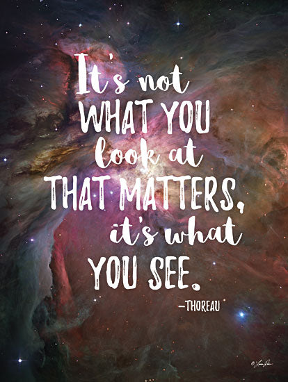 Lauren Rader RAD1187 - It's What You See - Quote, Galaxy, Inspirational, Typography, Sign from Penny Lane Publishing