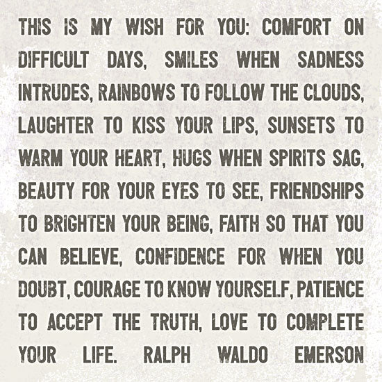 Lauren Rader RAD1226 - This is My Wish for You - Typography, Inspirational, Quote from Penny Lane Publishing
