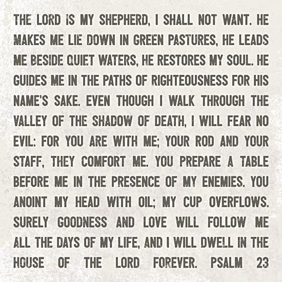 Lauren Rader RAD1227 - The Lord is My Shepherd - Typography, Inspirational, Religious from Penny Lane Publishing