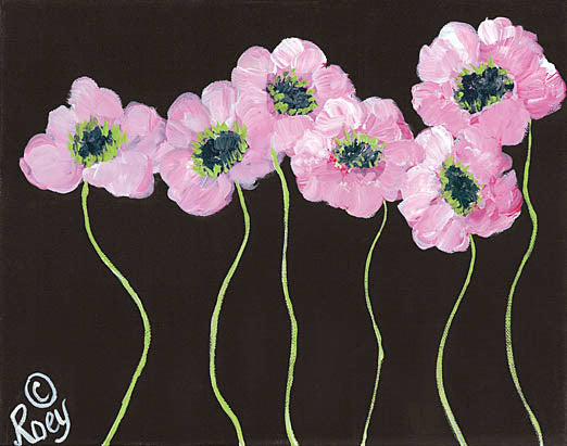 Roey Ebert REAR155 - Posh - Floral, Pink Poppies from Penny Lane Publishing