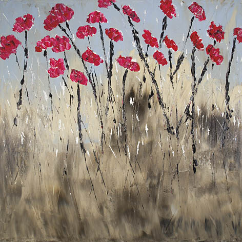 Roey Ebert REAR159 - The Poppy Dance - Abstract, Red, Poppies, Floral from Penny Lane Publishing