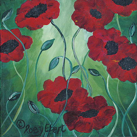 Roey Ebert REAR162 - Poppies in Bloom - Abstract, Floral, Poppies from Penny Lane Publishing