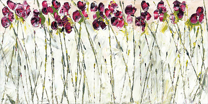 Roey Ebert REAR163 - Sweet Pea Garden - Abstract, Floral, Sweet Pea from Penny Lane Publishing