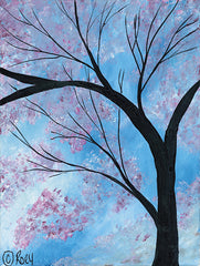 REAR166 - Cherry Blossoms Tree - 12x16