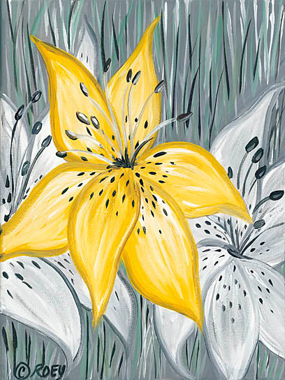 Roey Ebert REAR169 - Tiger Lily in Yellow - Contemporary, Floral, Tiger Lily from Penny Lane Publishing