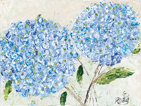 Roey Ebert REAR173 - Blue Hydrangeas I - Contemporary, Floral, Hydrangeas from Penny Lane Publishing