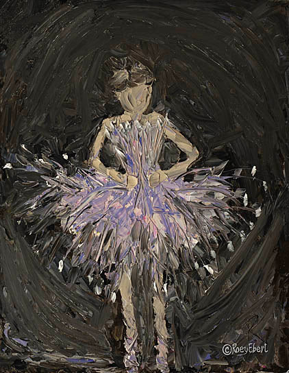 Roey Ebert REAR185 - Tiny Dance on Stage - Children's Art, Figurative, Ballerina, Girl, Dance, Abstract from Penny Lane Publishing