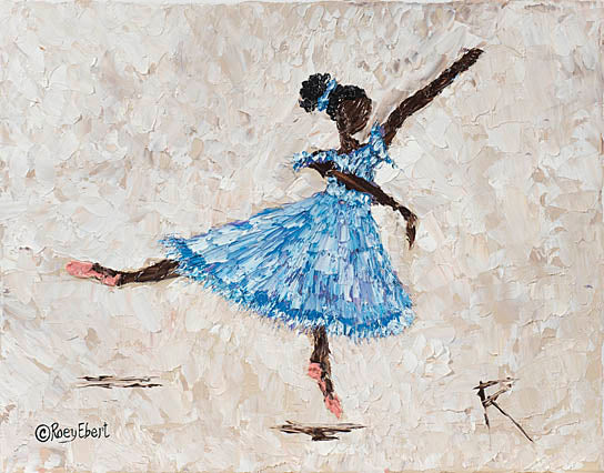 Roey Ebert REAR188 - Dancer in Blue - Children's Art, Figurative, Ballerina, Girl, Dance, Abstract from Penny Lane Publishing