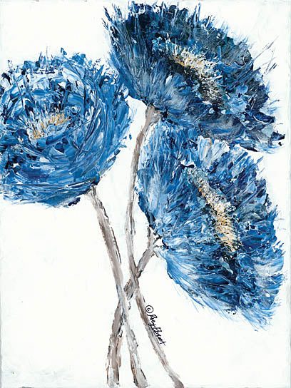 Roey Ebert REAR193 - Big Blooms in Blue - Contemporary, Blue, Floral from Penny Lane Publishing
