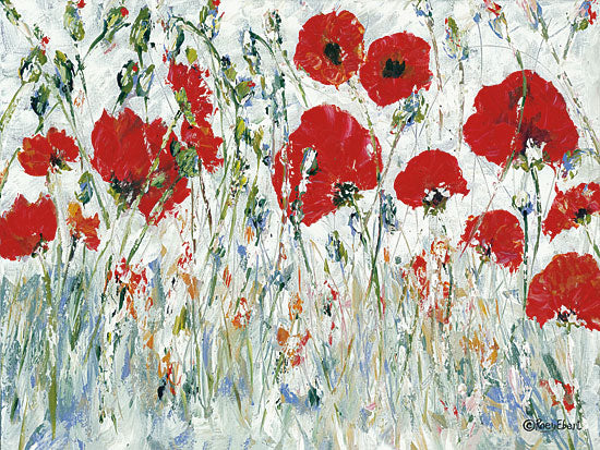 Roey Ebert REAR310 - REAR310 - Renewal - 16x12 Abstract, Poppies, Red Flowers, Contemporary from Penny Lane