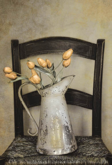 Robin-Lee Vieira RLV125 - Golden Tulips - Tulips, Pitcher, Chair from Penny Lane Publishing
