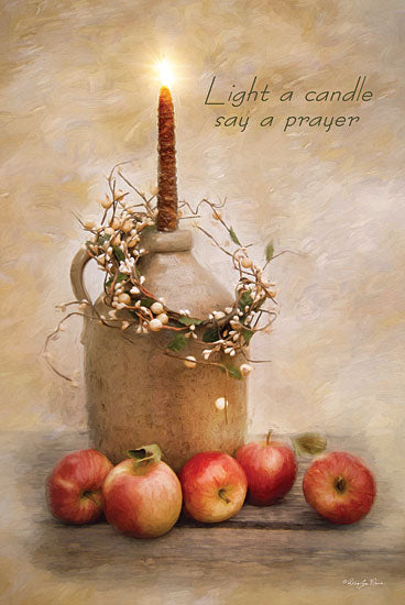 Robin-Lee Vieira RLV273 - Say a Prayer - Crock, Candle, Apples, Wreath from Penny Lane Publishing