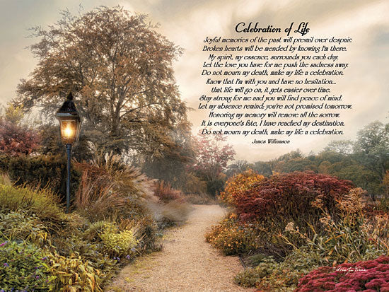 Robin-Lee Vieira RLV411A - Celebration of Life - Quote, Trees, Flowers, Inspirational, Path from Penny Lane Publishing
