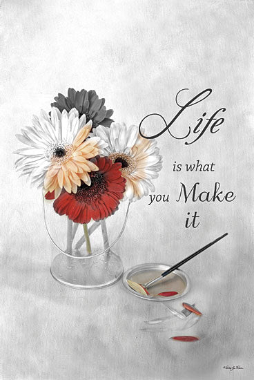 Robin-Lee Vieira RLV414 - Life is What You Make It - Bucket, Daisies, Inspirational from Penny Lane Publishing