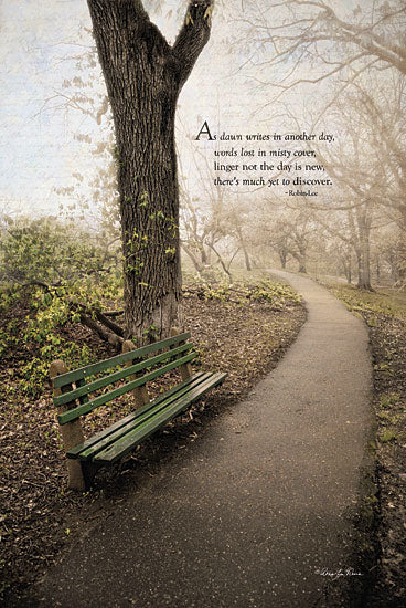 Robin-Lee Vieira RLV447 - Through the Mist - Bench, Trees, Path, Inspirational from Penny Lane Publishing