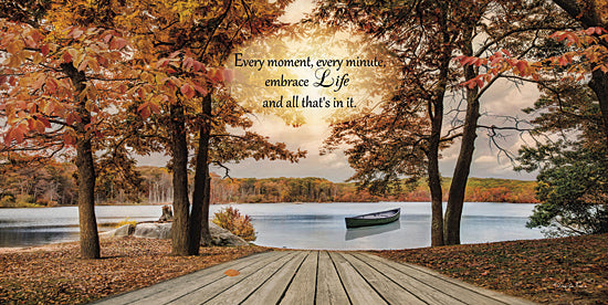 Robin-Lee Vieira RLV487 - Embrace Life - Canoe, Lake, Trees, Nature, Autumn, Path from Penny Lane Publishing