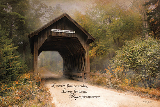 Robin-Lee Vieira RLV489 - Live for Today - Covered Bridge, Inspirational, Trees, Path from Penny Lane Publishing