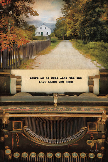 Robin-Lee Vieira RLV523 - There is No Road - Typewriter, Landscape, Path, Inspirational from Penny Lane Publishing